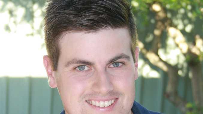 Labor candidate Trent Gilbert announces funding for the Grafton Bridge.