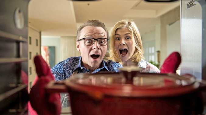 Simon Pegg and Rosamund Pike in Hector and the Search for Happiness.