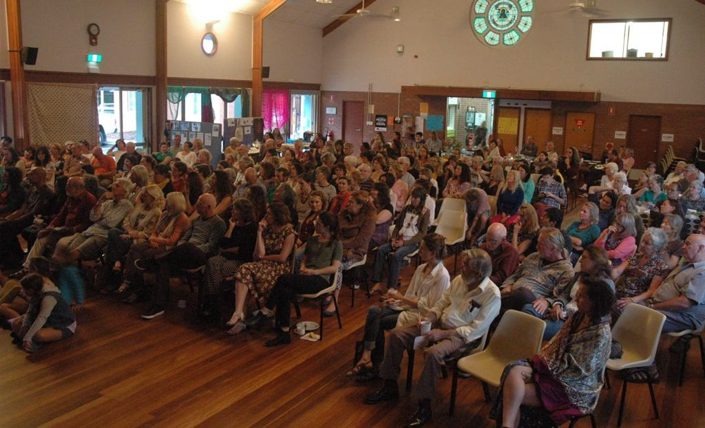 REFUGEE SUPPORT: The audience at last week's Mullumbimby Loves Refugees film night.