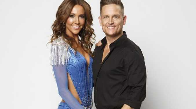 Kyly Clarke with her Dancing With The Stars partner Damian Whitewood.