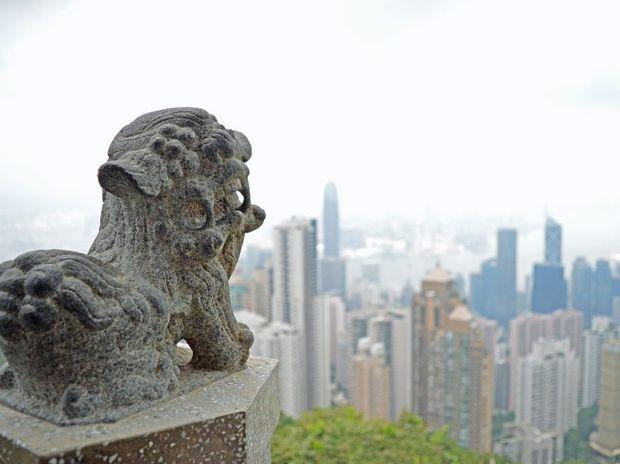 The view from The Peak at Hong Kong. Photo: Megan Mackander