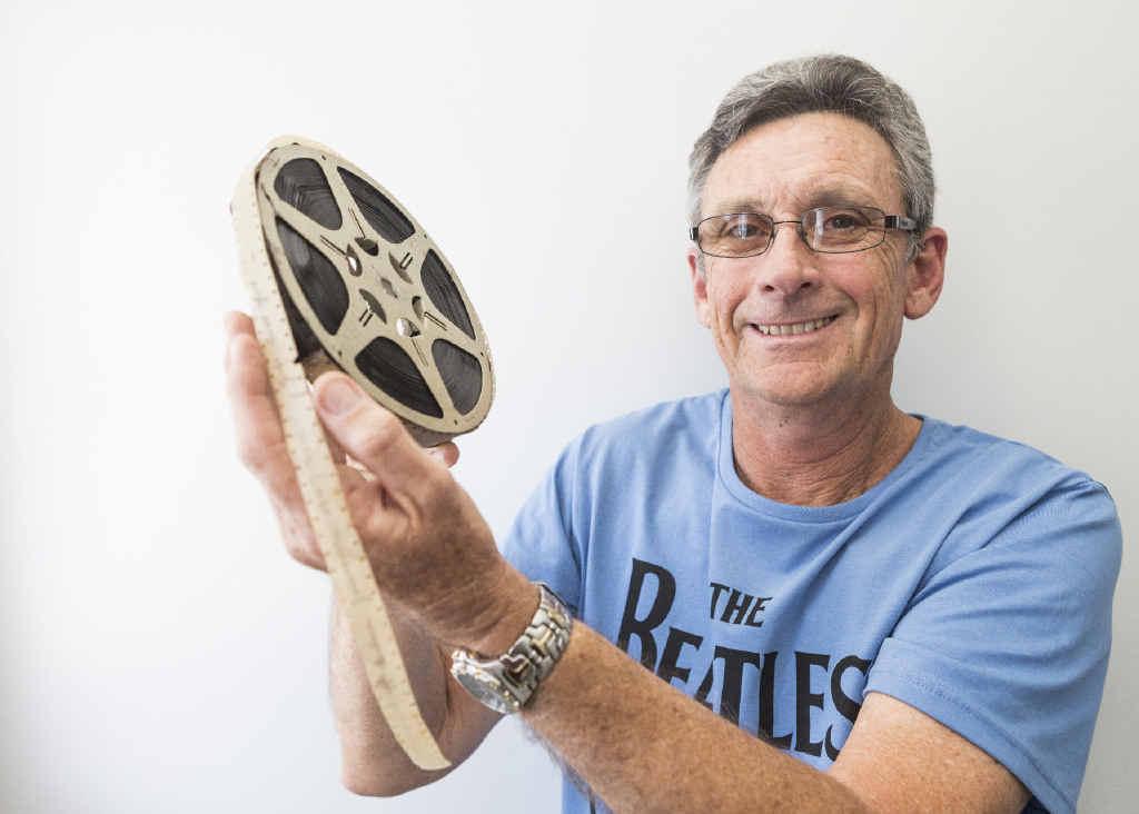 RARE FOOTAGE: Rod Jackson of Grafton with the 16mm film featuring the 1947 Jacaranda Festival.