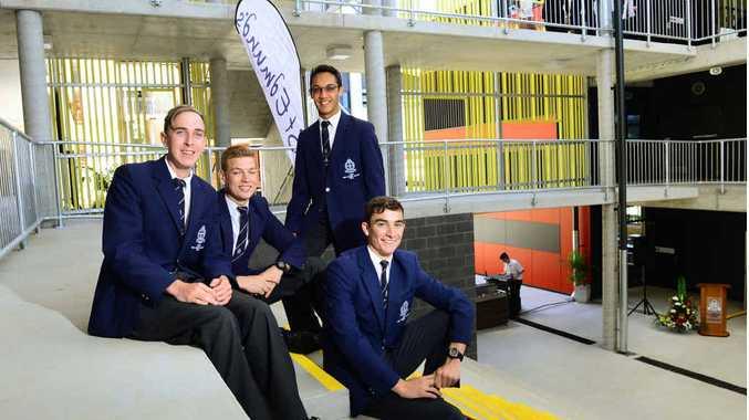 GROWING SCHOOL: St Edmund's College senior house captains (from left) Andrew Broadbent, Jayden Green, Jermaine Ostrofski and Aidan Lunney.