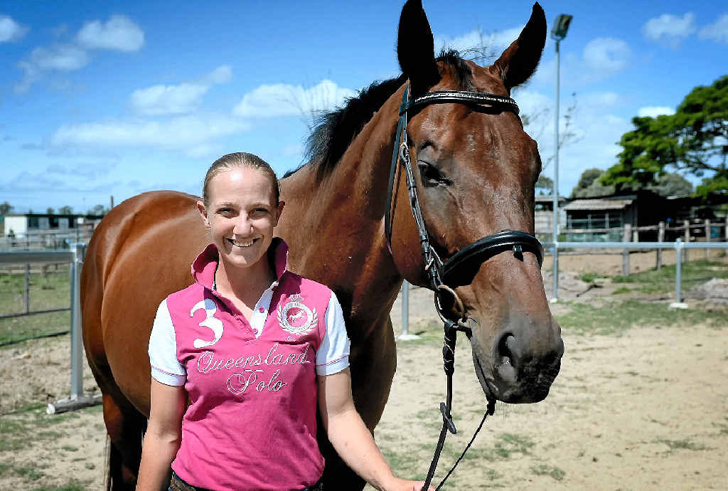 Jockey Carly-Mae Pye, pictured at her property died after a fall in Rockhampton on Monday.