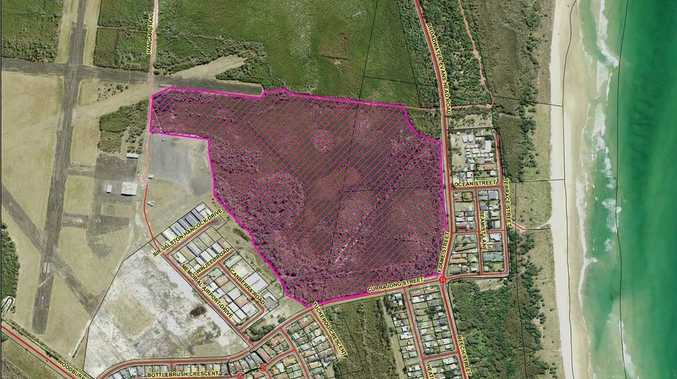 A map showing the area of a controlled burn at Evans Head planned for October 18/19.