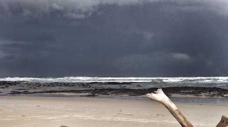 Stormy weather at Flat Rock beach
