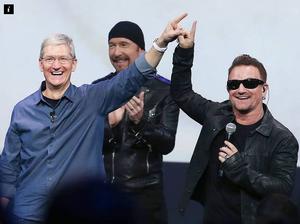 """Bono apologises for U2 album iTunes """"dumping"""""""