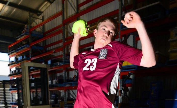 AUSSIE REP: Daniel Spann has been selected in the Australian Junior Men's handball team. Photo: Max Fleet / NewsMail