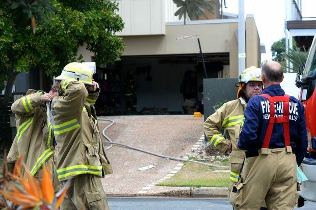Fire in Kingscliff. Photo: John Gass / Tweed Daily News