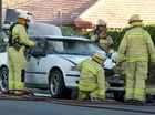 QFES attend a car on fire in Herries St near Cohoe St.