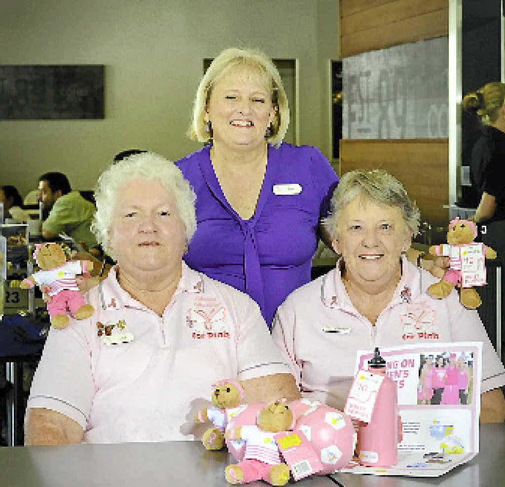 PINK: Del Watkins, Cheryl Jackson and Sue Fewtrell.