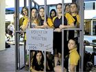 KIDS SHOULD BE KIDS: Gladstone State High Make 8 social justice group are against the conditions youth seeking asylum are in. From left: Austin Byrne, Kayla Wardill, Hannah Gregory, Tash Rudder, Becca Green, Jade Wright, Lucy Champion, Chloe Olig-Walters and Emma Wood.