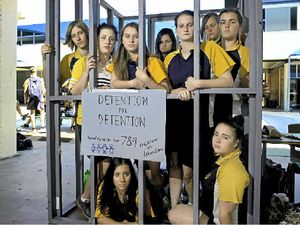 Gladstone State High students rally for youth in detention