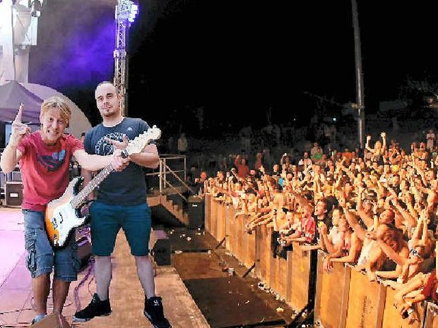 BRING BACK THE BOWL: Sea FM's Banksy and Todd would love to see the Music Bowl in Rockhampton returned to its former glory.