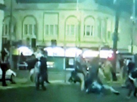 Street brawl. Photo Contributed