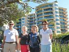 FIRM VIEW: Peter Foran, Christine Millsteed, Cynthia Howland and Lucille Simpson from the Mooloolaba Spit Protection Association are calling on councillors to stand up for the Town Plan.