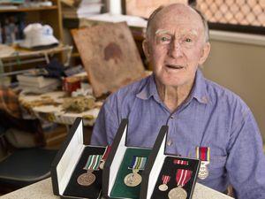 Bob gets his war medals