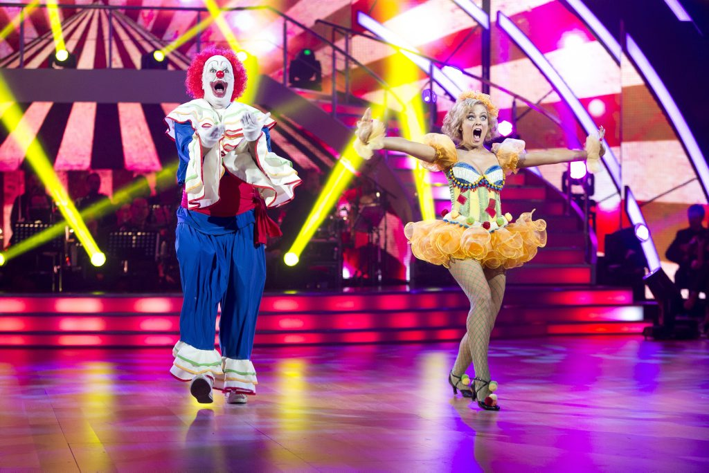 Mark Holden and Jessica Prince perform on Dancing With The Stars. Supplied by Channel 7.