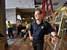 Renovation at Fitzy's, Overlooking final work in Tapestry which will open Friday is Brad Fitzgibbons, managing director of Fitzy's. Photo: Bev Lacey / The Chronicle
