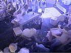 Police use footage from a Margaret St pub fight, which occurred in November 2013, to demonstrate how quickly tension can escalate into violence.