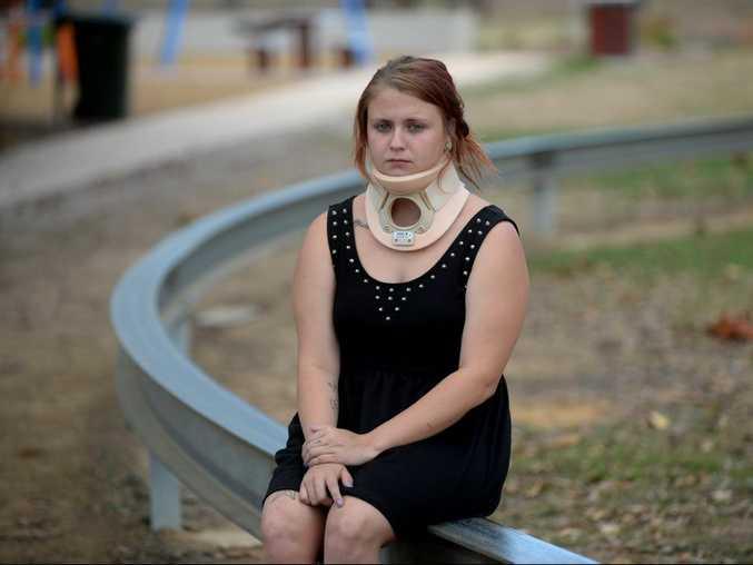 SERIOUS INJURY: Christina Bishop injured herself on the mono rail at Boreham Park. Photo: Mike Knott / NewsMail