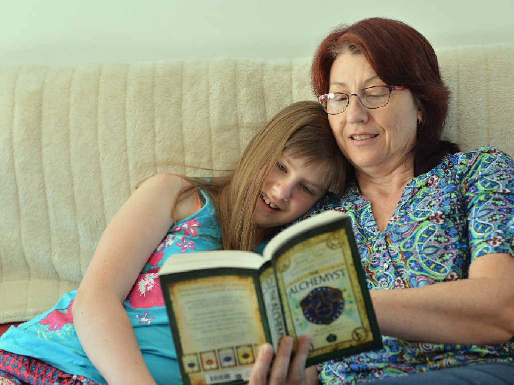 CHOICES: Grace Hill, 10, is home schooled by her mum and ex-schoolteacher Sharon Hill.