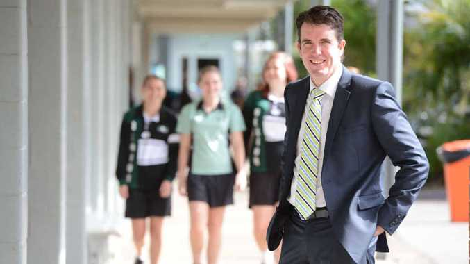 DEDICATED EDUCATOR: Andrew Peach is moving on after four years as principal of Bundamba State Secondary College.