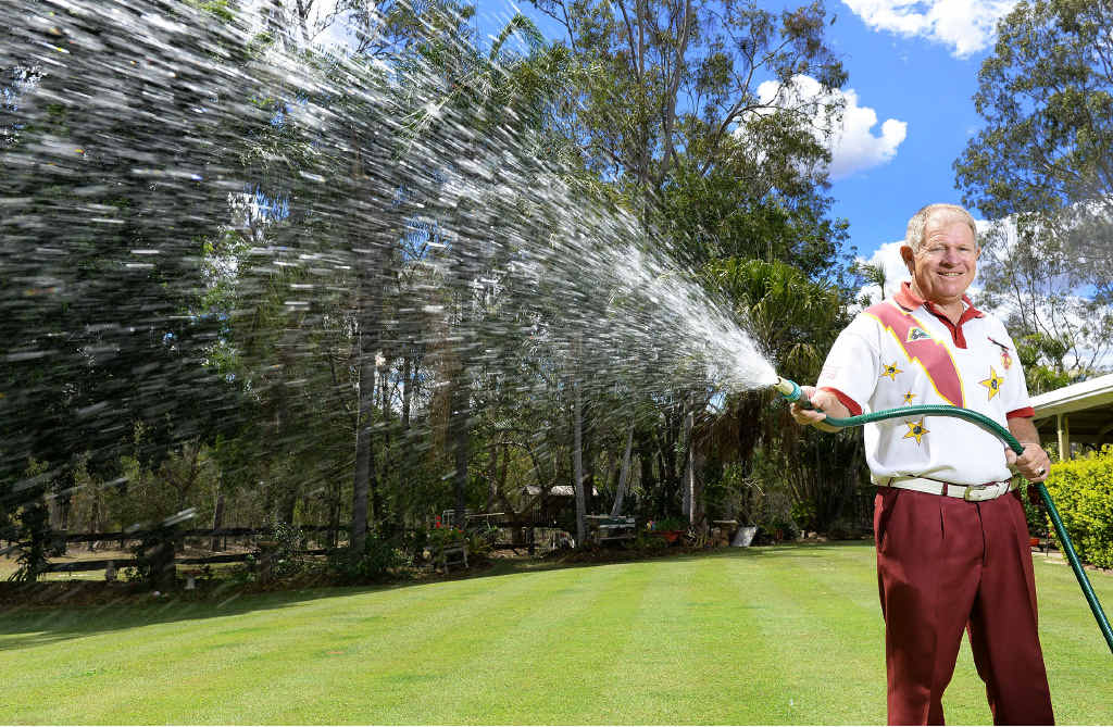 SIMPLE PLEASURES: Watering the lawn is just one task Don Currie is grateful to be able to do after partially recovering from Guillain-Barre syndrome.