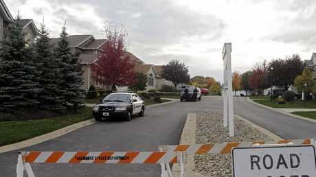 A police cordon in Tallmadge, Ohio, this week, where Ebola-infected nurse Amber Vinson stayed over the weekend