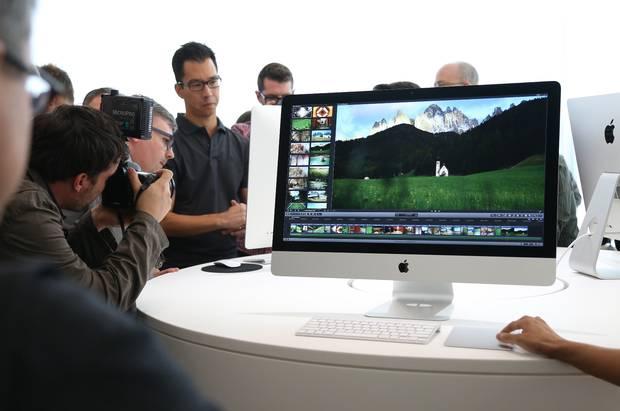 Apple's new iMac boasts a 5K Retina display with more pixels than a HD TV.