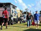 Caravans, camper trailers and tow vehicles are on display at the show.