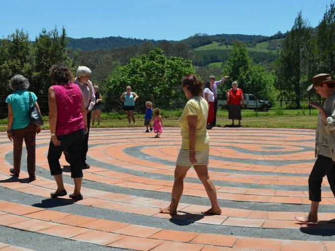 The construction of the labyrinth at Dorrigo formed part of the submission for the Banksia Sustainability Award nomination