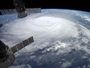 Hurricane Gonzalo photographed from ISS