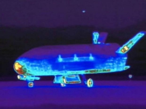 The unmanned aircraft, seen here in infrared, took off in 2012