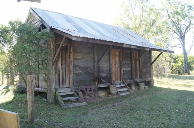 The wooden bunkhouse the Allen brothers once slept in at the back of the family homestead, forms part of the Kookaburra Park eco-village. Photo Contributed