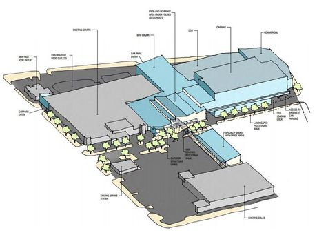 Preliminary artist's sketch of proposed extensions to Wilsonton Shopping Centre. Photo Contributed