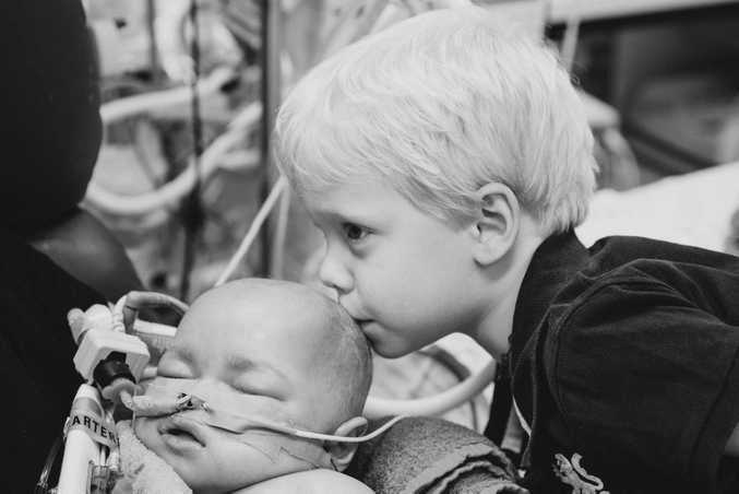 Isaac Baguley with his younger brother Ethan, who passed away after battling a rare genetic disease. Photo: Heartfelt