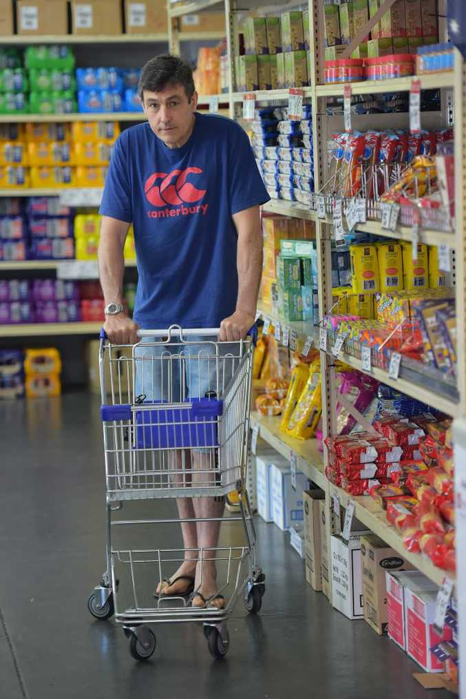 Supervisor at the Suncoast Care Supermarket in Nambour, Graeme Sutton. The Food Outlet service, which is only available to those who hold a current concession card or can prove low income status, has experienced a 20 percent increase in membership in the past 12 months. Photo: Brett Wortman / Sunshine Coast Daily