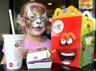 Ella Lefrancke, 7, supporting McHappy Day in Hervey Bay.