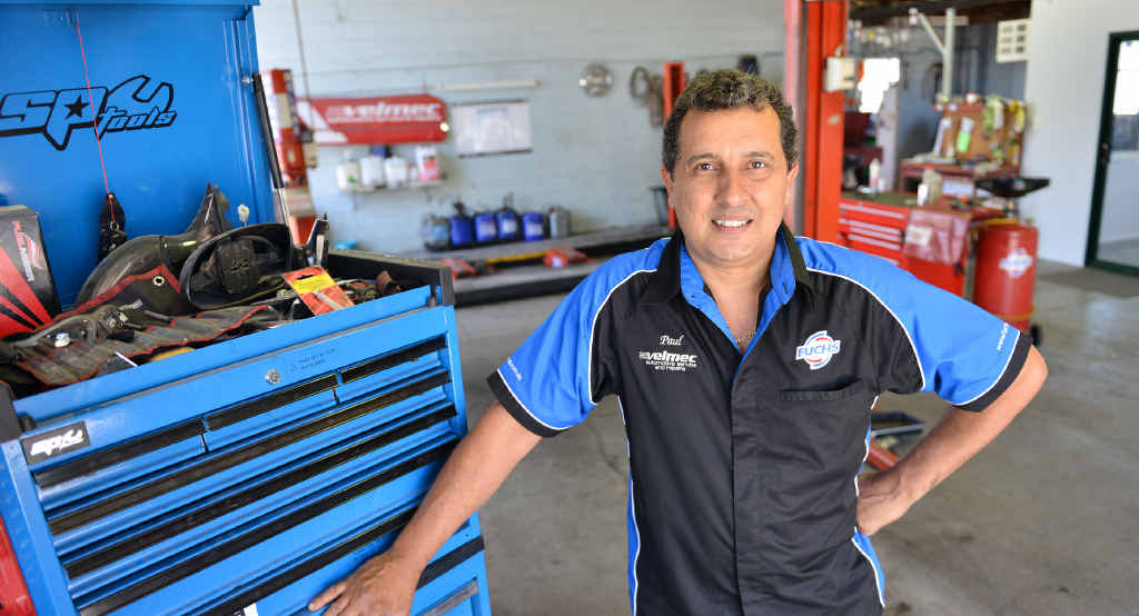 RESOURCEFUL: Paul Vella of Gympie's Velmec Automotive says mechanics are resourceful in the face of car dealerships attempting to lock out independent mechanics from accessing diagnostic knowledge for new cars.