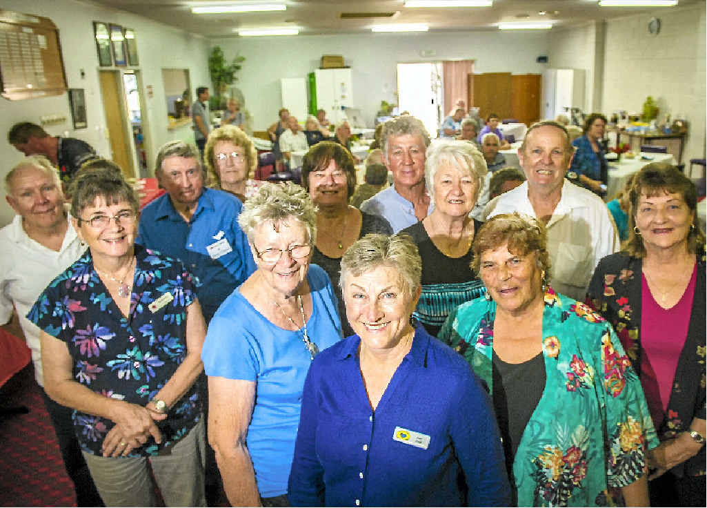 MAIN: Joan Fields (centre) and members of the Gladstone Gem Club celebrated their 50th anniversary on Saturday.