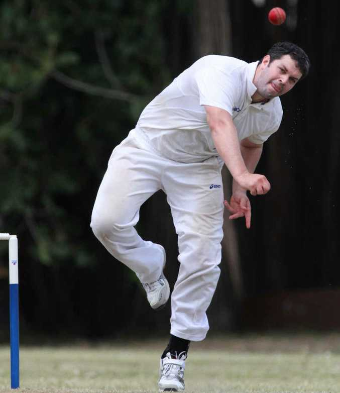 IN ACTION: Central Queensland bowler Joe McGahan sends down a delivery in his side's round one match of the North Queensland Cricket Championships held at the Rockhampton Cricket Grounds.