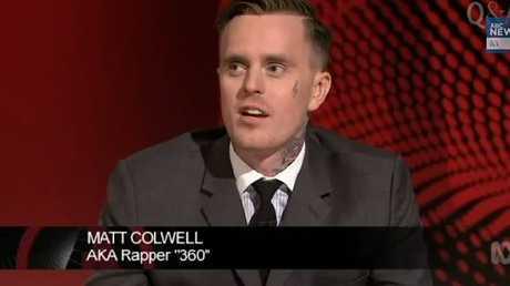 Rapper 360 on ABC panel show QandA