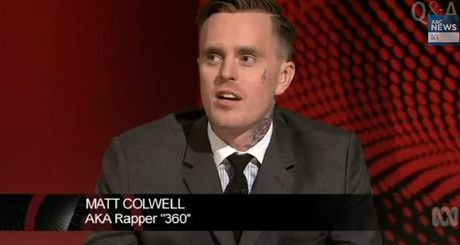 Rapper 360 on ABC panel show QandA