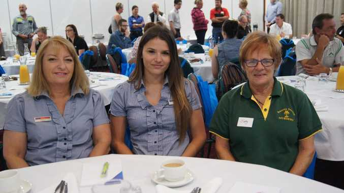 Deardrie Keleher and Cassie Mahoney from PRD Nationwide and Judy Turner from Benaraby Junction Nursery.