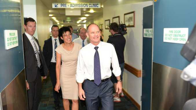 Premier Campbell Newman during a visit to Rockhampton Hospital on Tuesday 21 October. Photo: Chris Ison / The Morning Bulletin