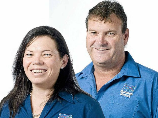 INDUSTRY RECOGNITION: Michelle and Chris Dodt of Hotondo Homes Gympie were finalists in the recent Northern Territory and Queensland Professional Builder of the Year Award.