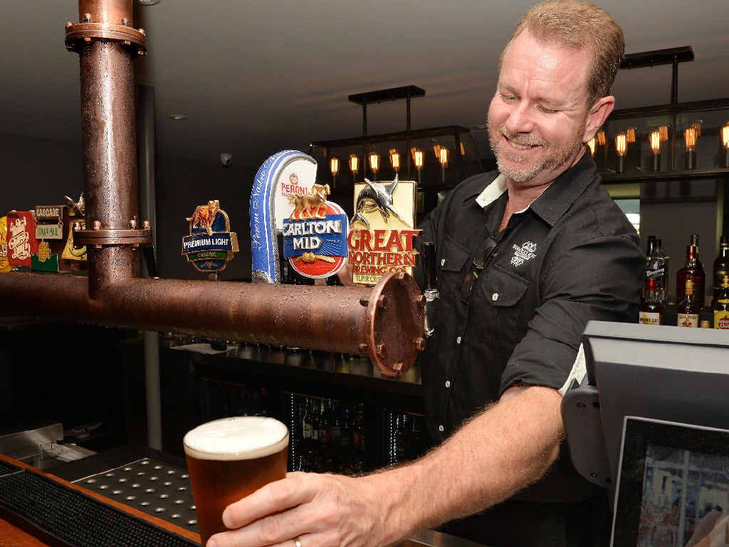 The Shamrock Hotel has been fully renovated. Jason Finlayson says patrons will love the venue's new beer reticulation system, which has 16 beers on tap.