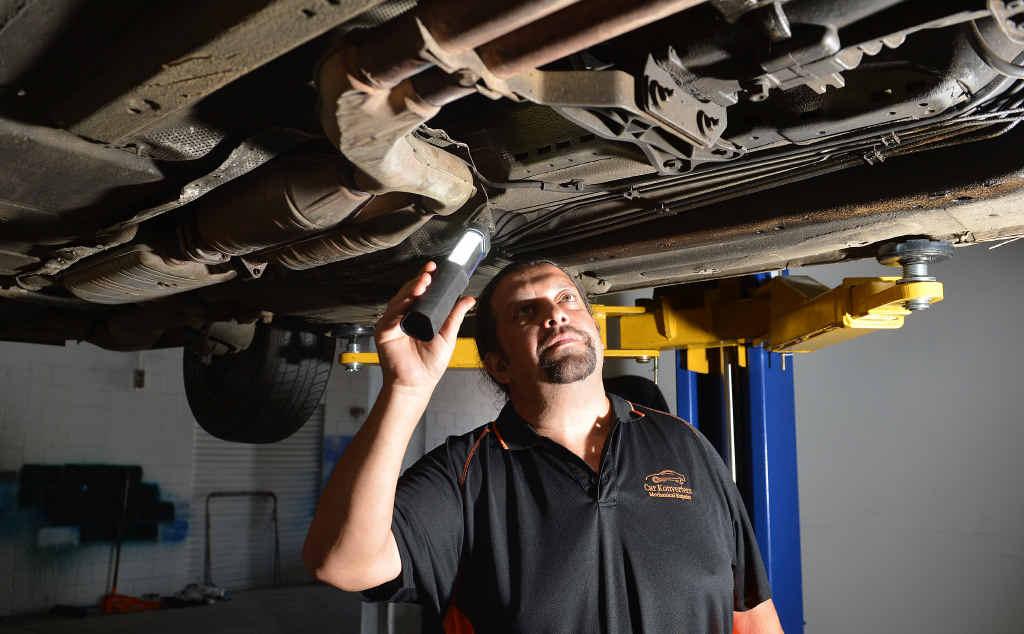 Forest Glen mechanic Frank Melendez.