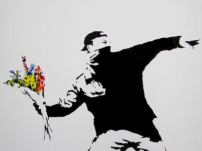 A piece from street artist Banksy